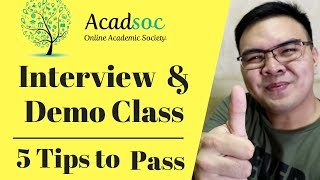 How to Apply in Acadsoc - Demo Class Tips - ESL tutor Philippines 8k to 50k/month