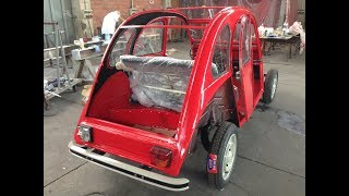 Restoration of a 1983 Citroen 2cv6 AZKA model: a lovely gift for his mother's 50th birthday