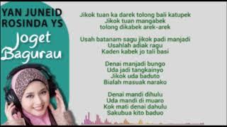 lagu gamad - JOGET BAGURAU-YAN JUNEID,ROSINDA YS - lagu minang legendaris - lagu minang