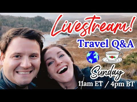 Sunday Livestream    |   Travel Q&A   |   New Years Resolutions For Travel & More!