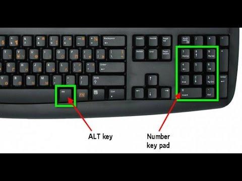 Как ввести знак градуса на клавиатуре