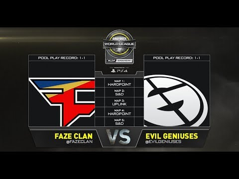 FaZe Clan vs Evil Geniuses - CWL Anaheim Open Presented by PlayStation 4 Day 1