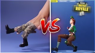 FORTNITE BAILES WITH CHALLENGE DEDOS! (Fortnite Real Life: Battle Royale Dances)