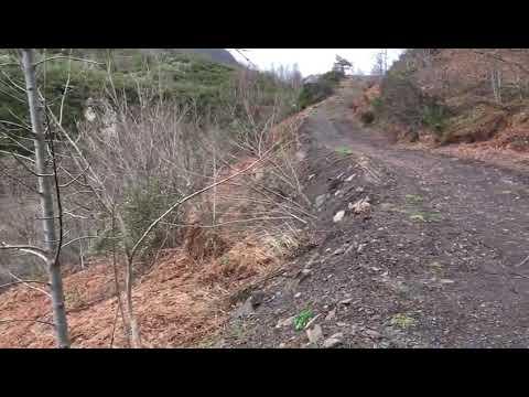Estado de la carretera en Caboalles de Arriba