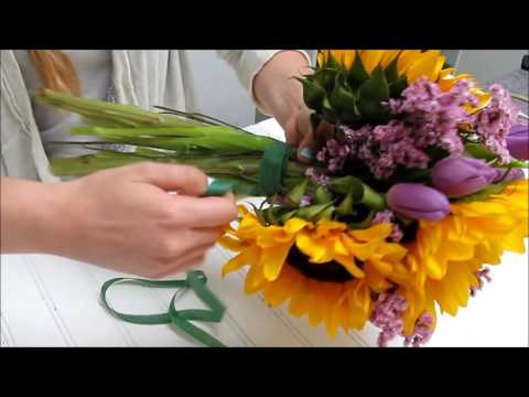 how-to-make-a-sunflower-bouquet