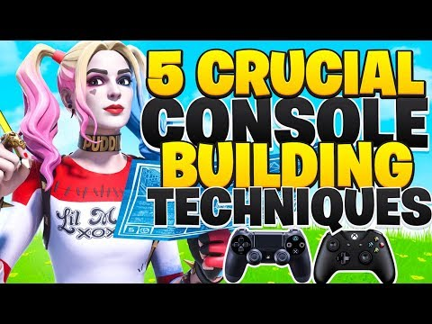 5 Console Building Techniques You NEED To Know! (Fortnite PS4 + Xbox Tips)