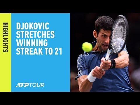 Highlights: Djokovic Stretches Winning Streak To 21, To Face Federer In Paris 2018 SFs