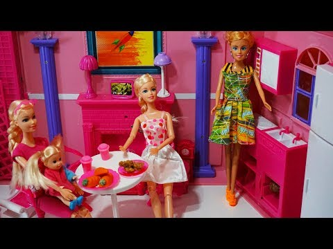 Barbie Princess Doll Bedroom Morning Routine Babies Bath Time Kids Video Youtube