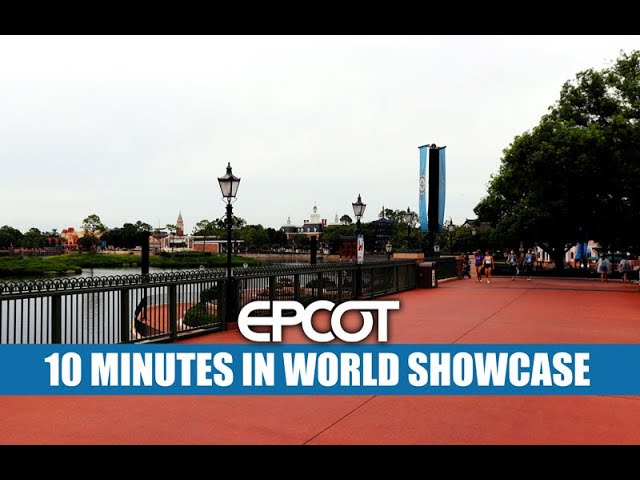 Epcot 10 Minutes In World Showcase at International Gateway Walt Disney World Reopening Crowds 💙💚💜