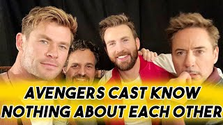 AVENGERS ENDGAME CAST KNOW NOTHING ABOUT EACH OTHER | FUNNY MOMENTS