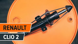 How to replace Shock absorbers on RENAULT CLIO II (BB0/1/2_, CB0/1/2_) - video tutorial