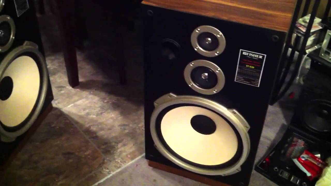 Fisher st 830 15 speakers youtube for 12 inch floor speakers
