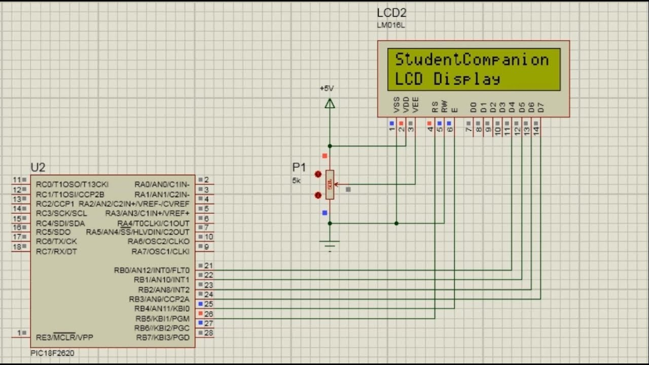 MPLAB XC8 for Beginners Tutorial -17- LCD Connection to any PORT of a  Microcontroller