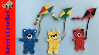 Crochet Kite Tutorial - Crochet Applique Tutorial