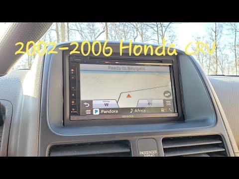 2002 - 2006 Honda CRV Aftermarket Stereo Navigation Installation How To