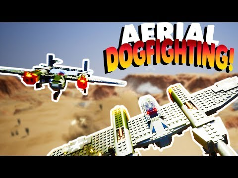 LEGO AERIAL DOGFIGHTING & PLANES!   Lets Play Brick Rigs