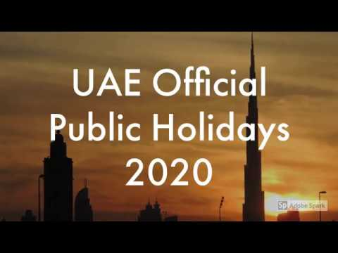 Public Holidays UAE For 2020
