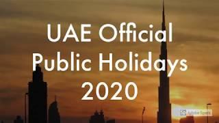 Public Holidays Uae For 2020