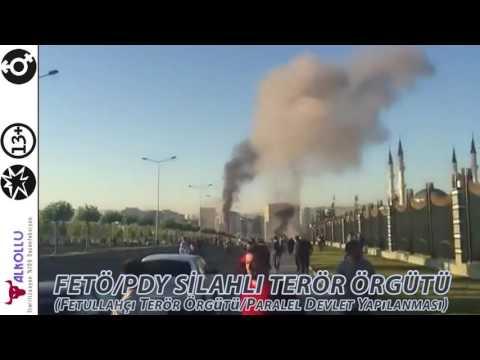 fetö pdy silahlı terör örgütü  darbeci uçaklar cumhurbaşkanlığı külliyesini bombalıyor