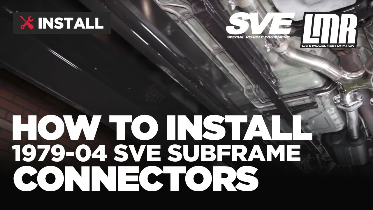 small resolution of 1979 2004 mustang sve subframe connectors review install