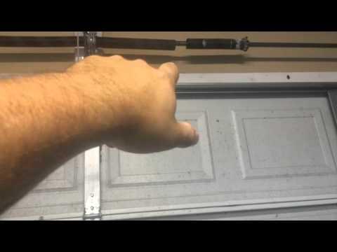 Garage door spring broke