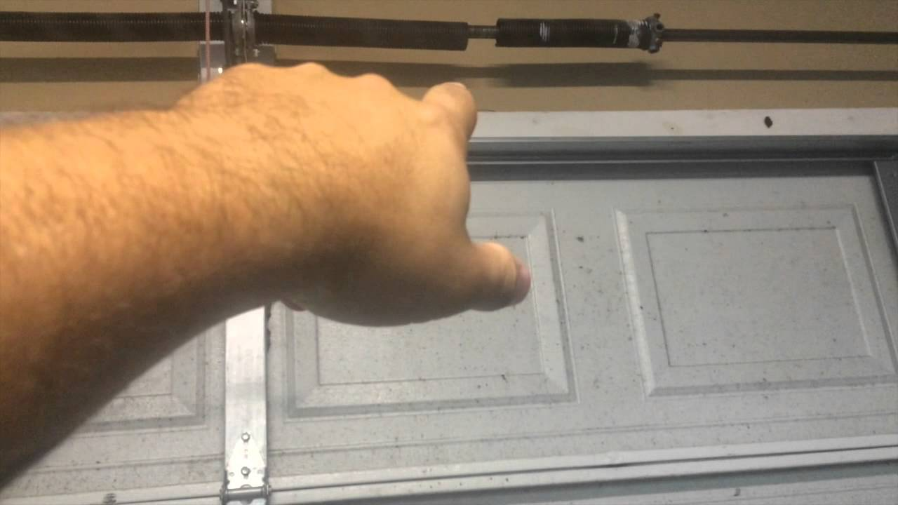 Garage Door Spring Broke Youtube