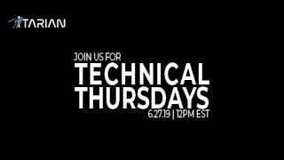 ITarian Technical Thursdays Webinar - 6/27/19
