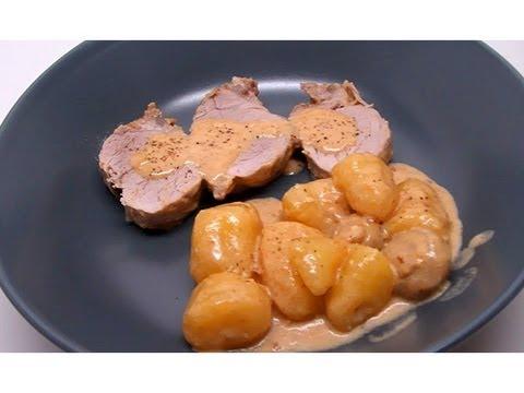 recette-de-filet-mignon-de-porc-au-maroilles,-champignons-et-pommes-de-terre-(cookeo)