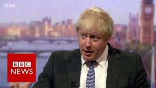 Boris Johnson: UK population will rise 'inexorably' if we stay in EU - BBC News