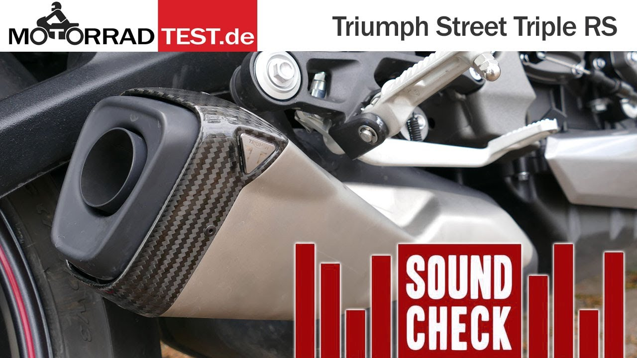 Sound | So klingt die Triumph Street Triple RS (2020) mit dem Serien-Schalldämpfer