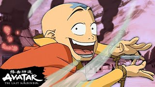Every Aang Airbending Moment Ever! 💨 | Avatar: The Last Airbender