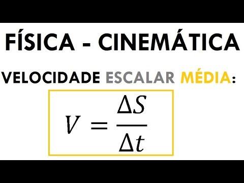 FÍSICA - CINEMÁTICA: Velocidade Escalar Média: Teoria e Exercícios (Aula 03)