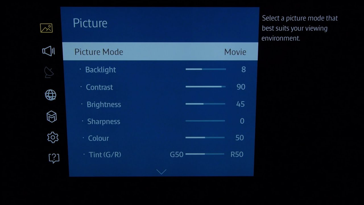 Samsung UE65JU7000 4K TV Best Picture Settings - YouTube