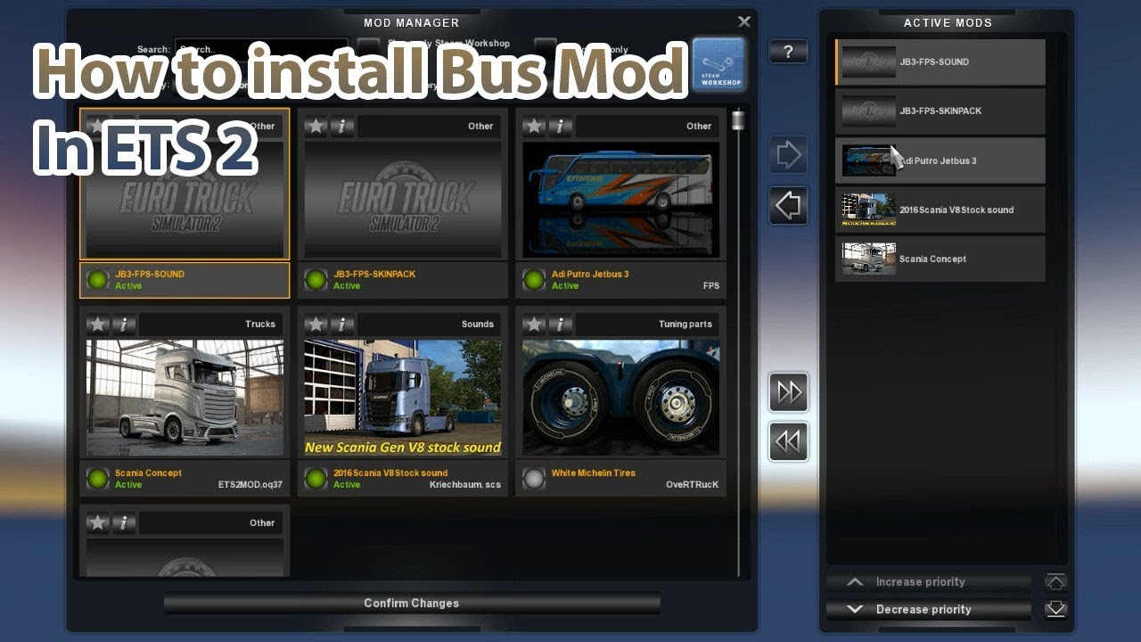 How To Install Bus Mod In Euro Truck Simulator 2 Youtube