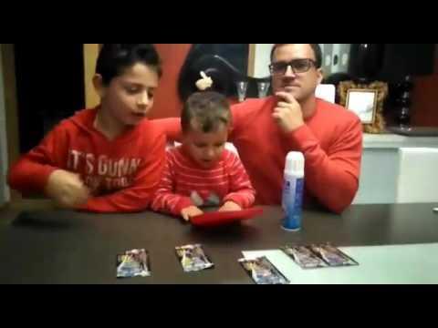Soliva, Javier y Joel con los cromos de adredalyn 2016 1