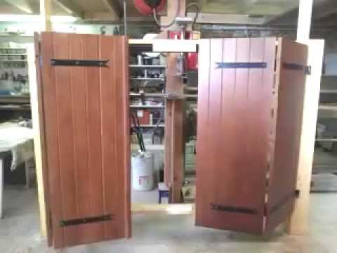 motorisation de volet battant 4 vantaux youtube. Black Bedroom Furniture Sets. Home Design Ideas