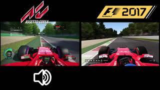 F1 2017 | Assetto Corsa ACFL vs CODEMASTERS / MONZA HOTLAP COMPARISON