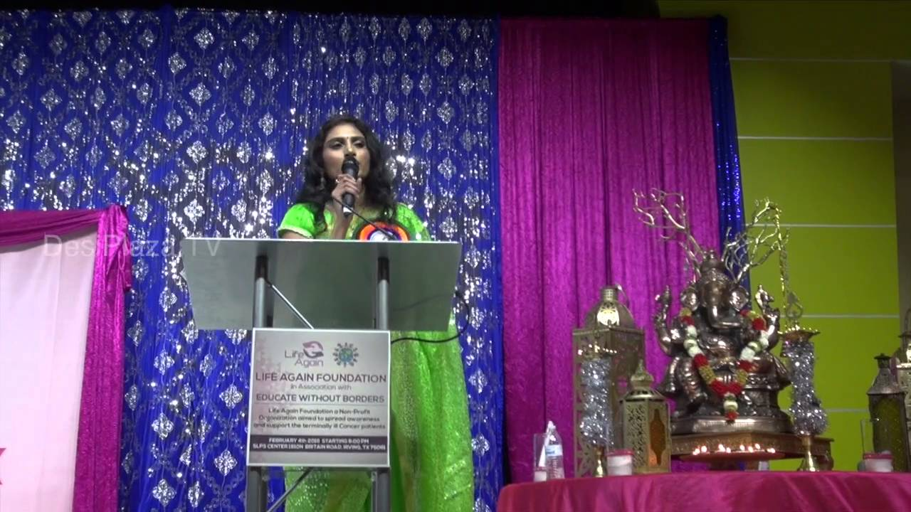 Mrs.Anu Adusumilli inviting Mrs.Swathi Haragopal to speak few words at the event.
