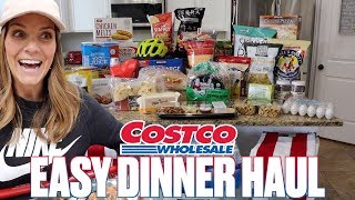 GROCERY SHOPPING FOR QUICK AND EASY DINNERS AT COSTCO | BUSY MOM LIFE HACK | COSTCO HAUL