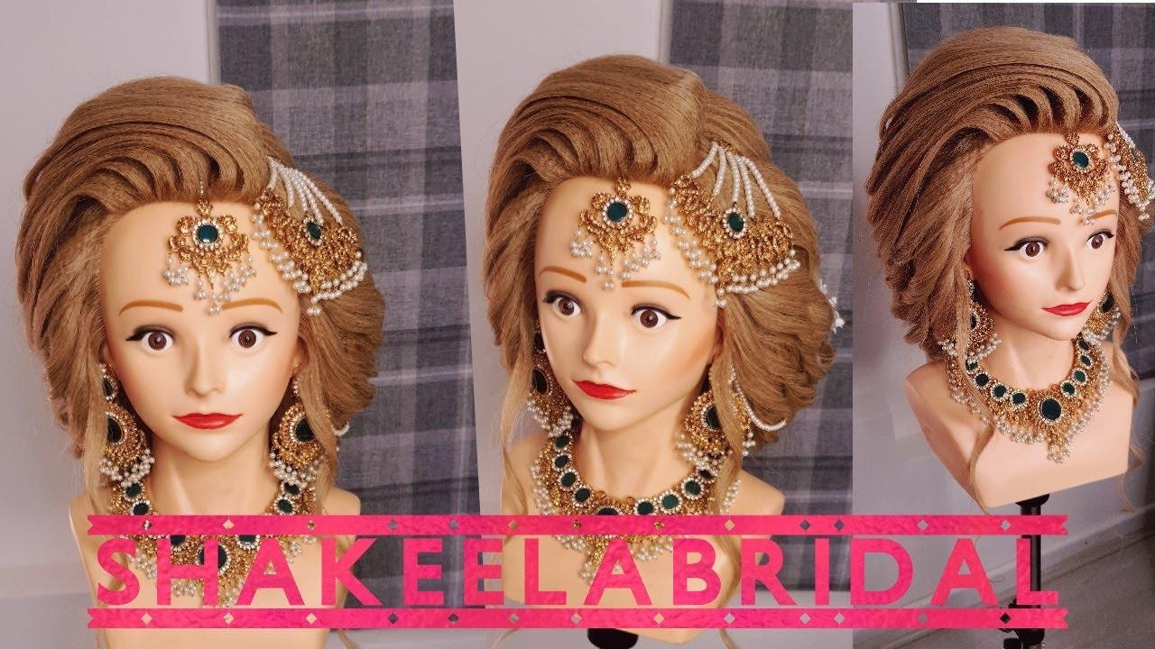 party hairstyle /bridal hairstyle by shakeela {urdu}