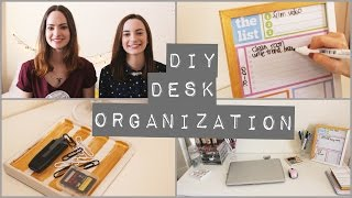 Diy Desk Organization For Spring | Collab With Charlimarietv