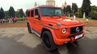 Mercedes Benz Gelandewagen красный