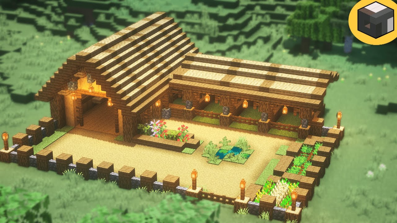 How to build BARN in Minecraft