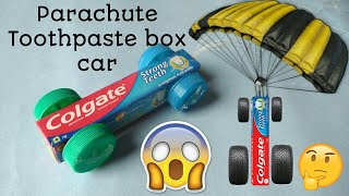 How To make a CAR with (Toothpaste box)