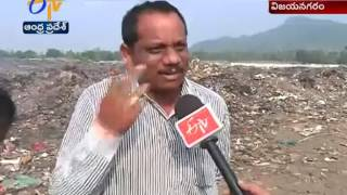 Garbage Set Ablazed   at Dumping Yard    Creates Trouble   at Vizianagaram