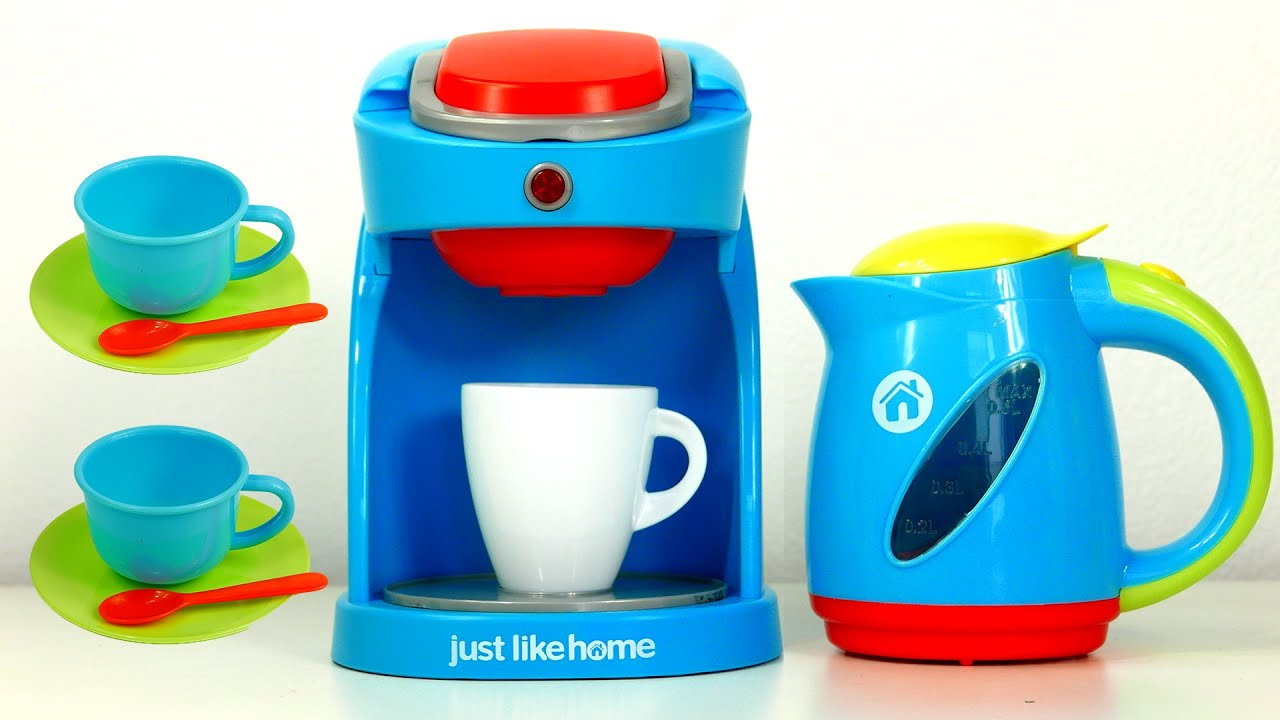 Kitchen Appliance Toys for Kids Coffee Maker Machine and Kettle Just ...