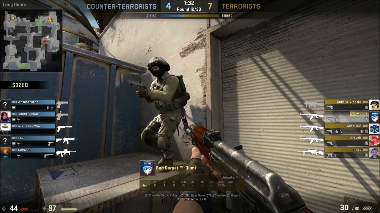 CS:GO New dust 2 ACE!