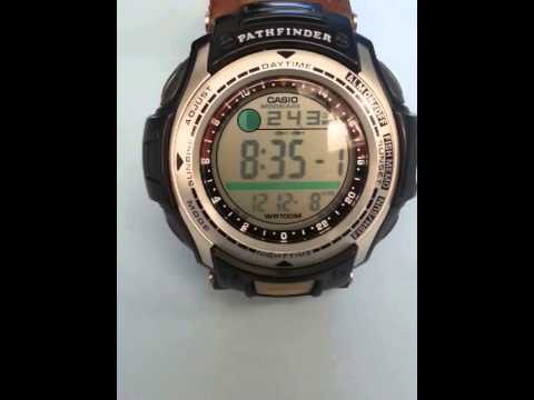 Casio vibrating pathfinder fishing watch youtube for Casio fishing watch