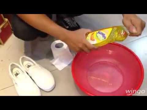 Cách vệ sinh giày sneaker TRẮNG đúng cách hiệu quả | via Wingo Store