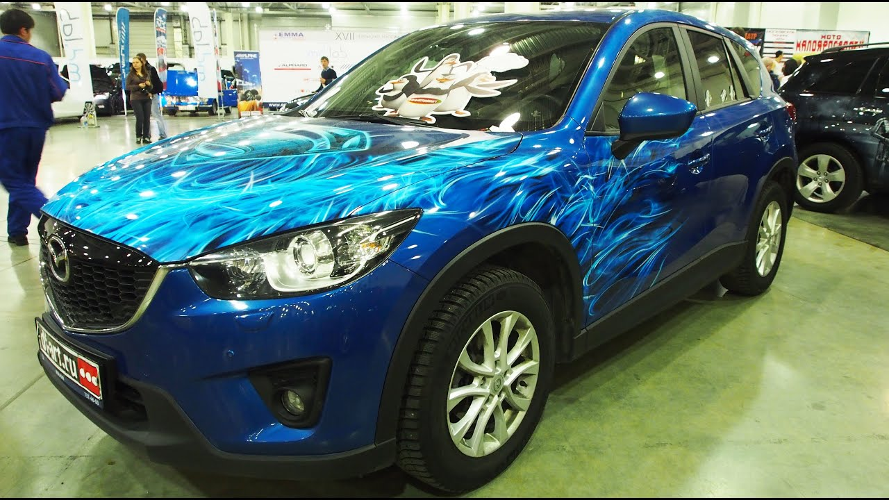 mazda cx 5 airbrush tuning walkaround moscow tuning show. Black Bedroom Furniture Sets. Home Design Ideas
